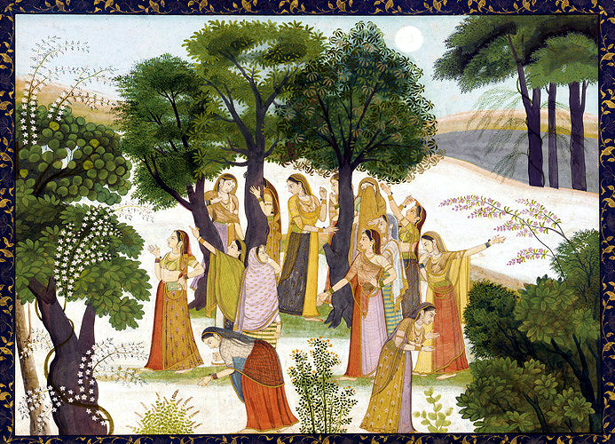 Gopis Search For Sri Krishna