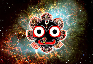 O Jagannatha, Lord of the Universe, please be visible before my eyes