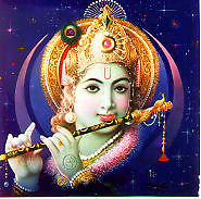 the flute beeing kissed by Krishnas lips
