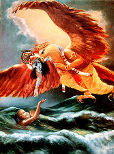 Garuda and Krishna